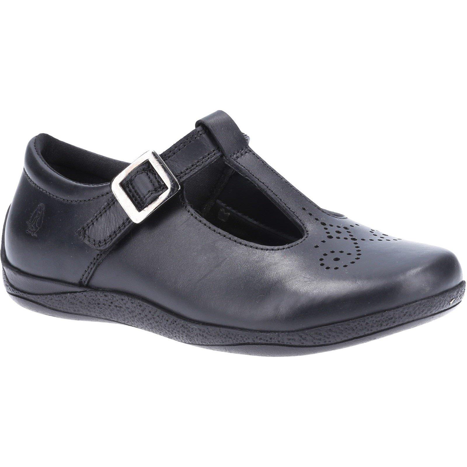Hush Puppies Kid's Eliza Junior School Shoe Black 32589 - Black 10