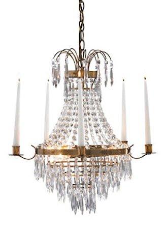 Krageholm Taklampe 3 Lys Antikk