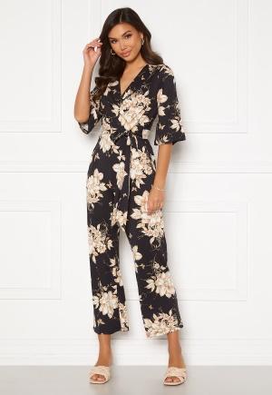 Happy Holly Simone kimono sleeve jumpsuit Black / Patterned 52/54