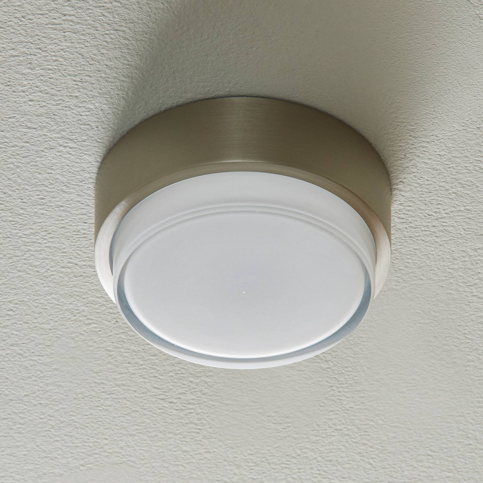 BEGA 50535 LED-kattovalo 930 teräs Ø15,5cm