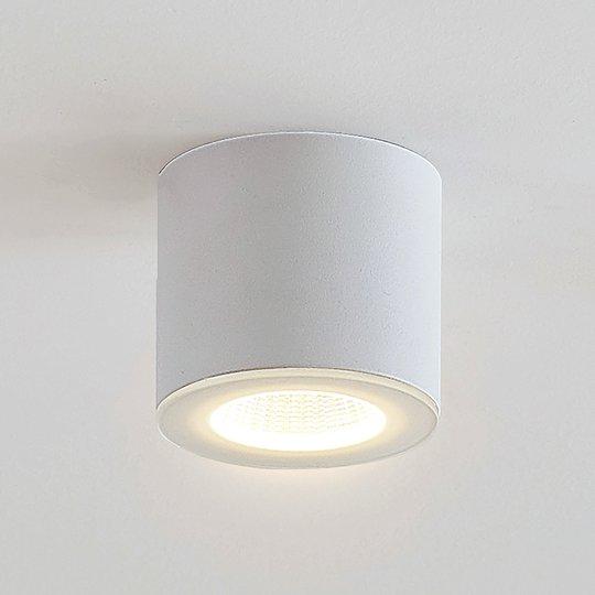 LED-alasvalo Demiran, valkoisena, pyöreä