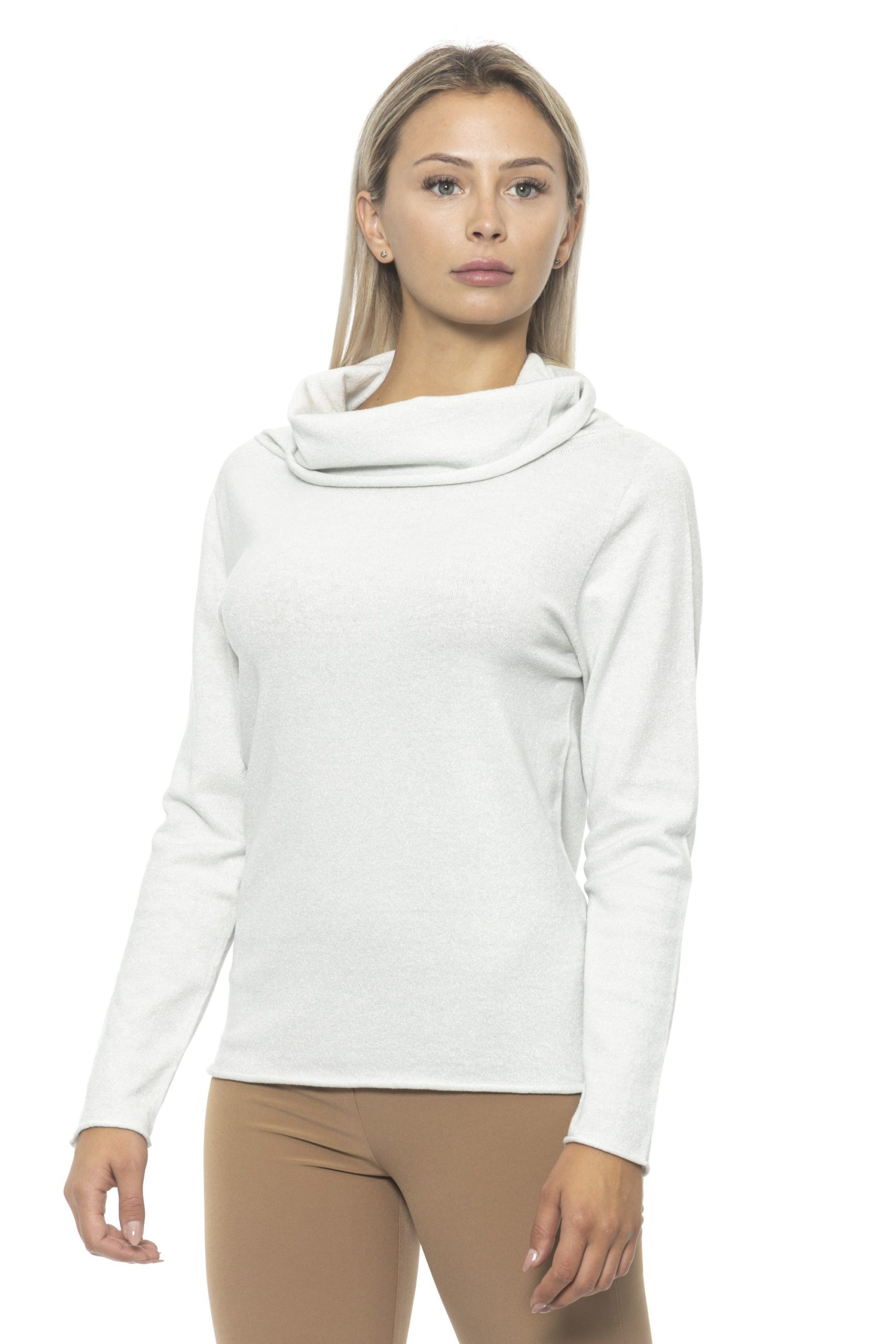 Alpha Studio Women's Argento Sweater White AL1314704 - IT42   S