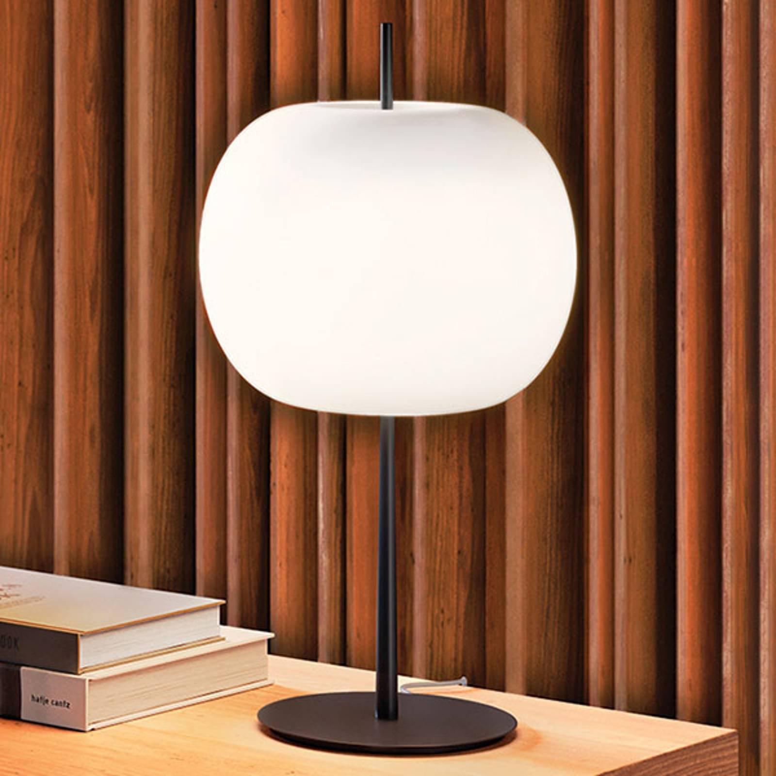 Kundalini Kushi XL bordlampe svart/hvit