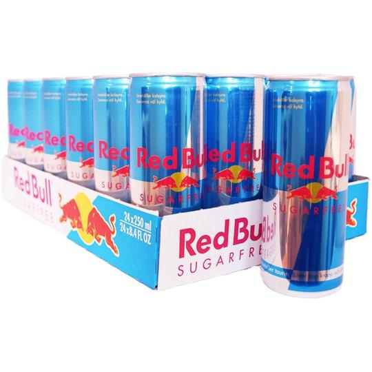 """Hel Låda Red Bull """"Sugarfree"""" - 21% rabatt"""