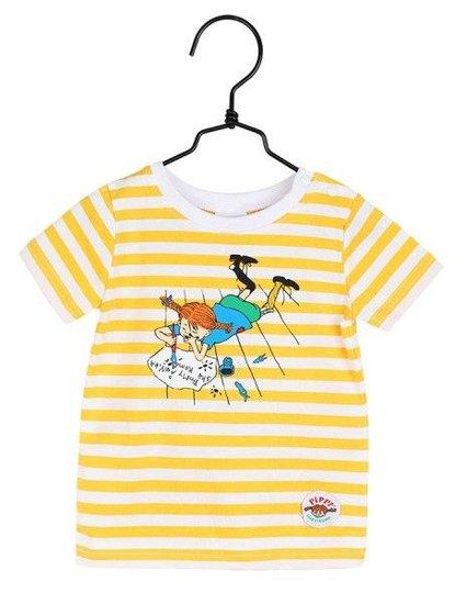 Pippi Langstrømpe Skrift T-Skjorte, Gul, 62-68