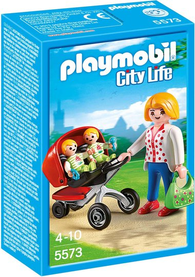 Playmobil 5573 Mother With Twin Stroller