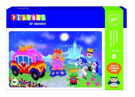 Playbox Perlesett Rørperler Prinsessa 3D 4000 Stk