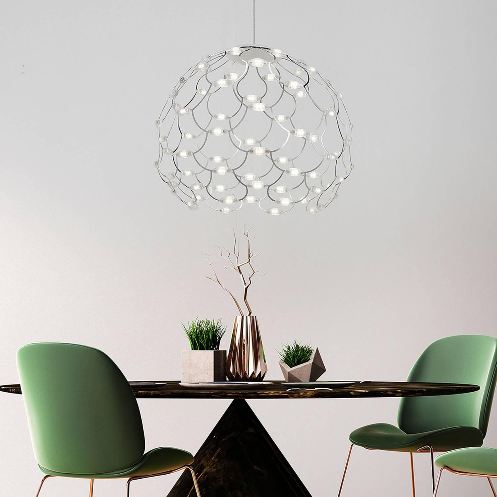 Kromattu LED-riippuvalaisin Lamoi 60 cm
