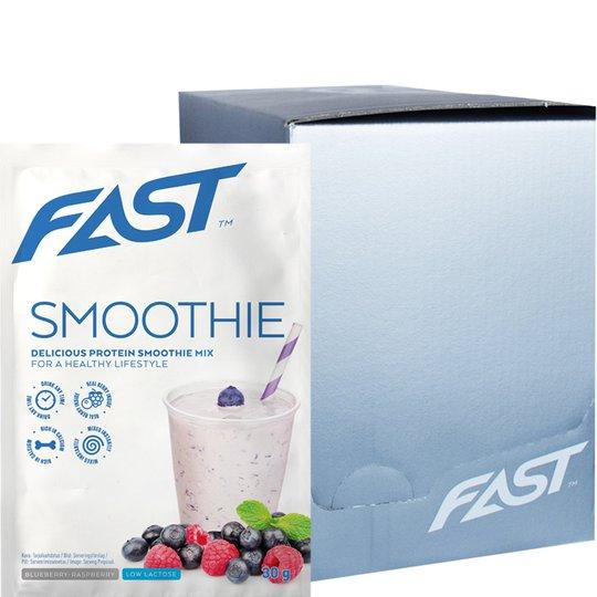 "Laatikollinen Proteiinijauhepussia ""Smoothie Blueberry & Raspberry"" 20 x 30g - 75% alennus"