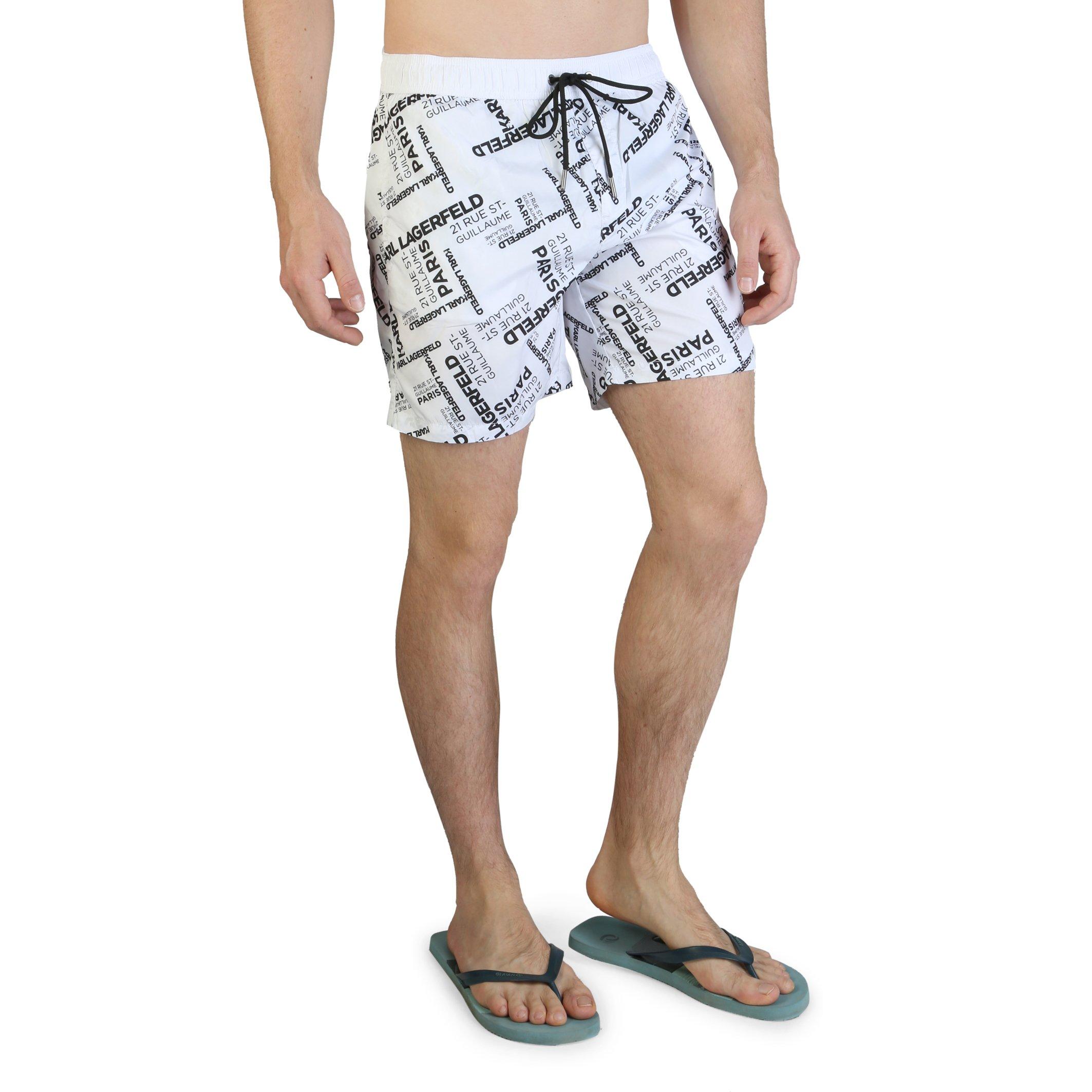 Karl Lagerfeld Men's Swimwear KL21MBM14 - white S