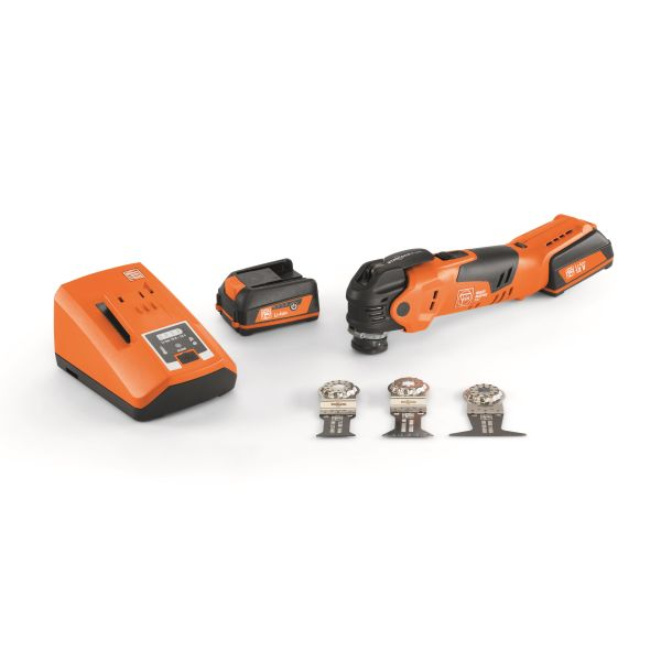 Fein MultiMaster AMM 300 Plus Start Multi verktøy med batterier, ladere og tilbehør