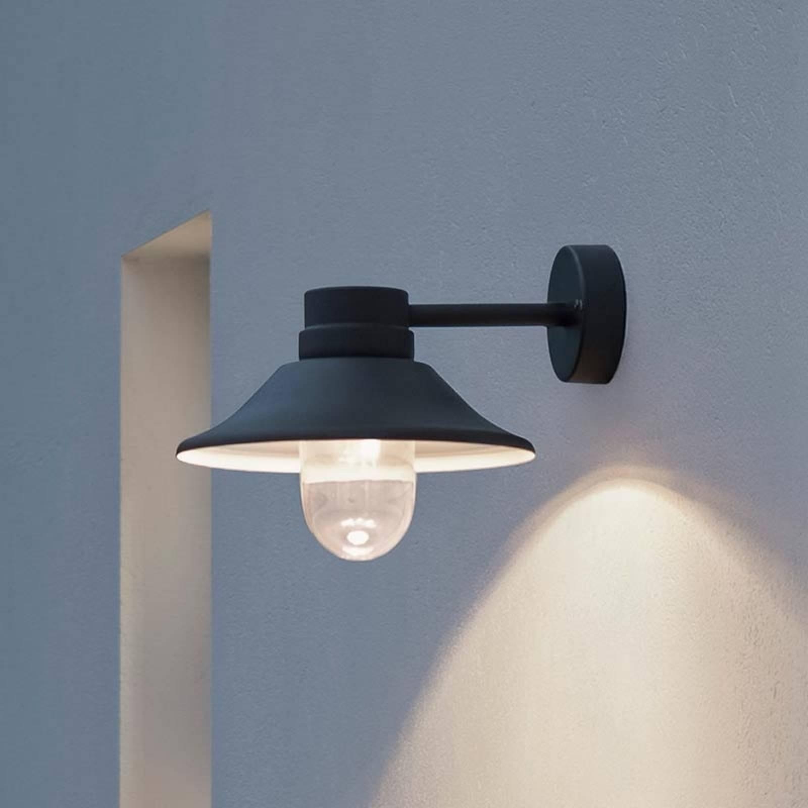 LED-ulkoseinälamppu Vega, musta