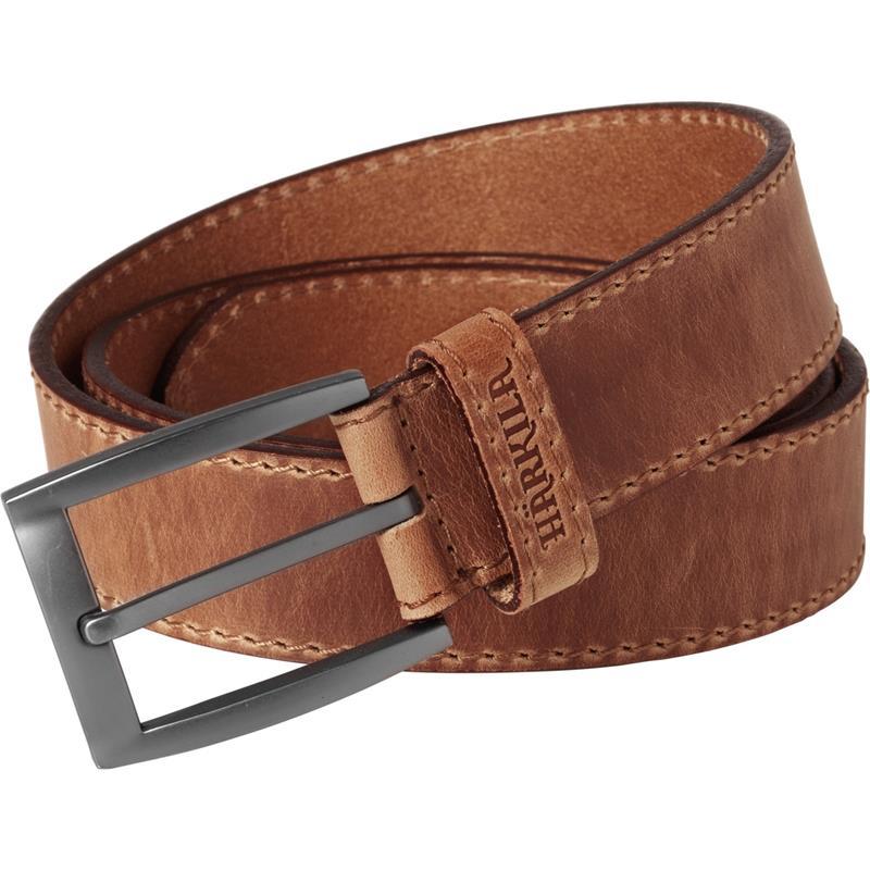 Härkila Arvak lærbelte Dark Sand 110cm Solid belte i kvalitetslær