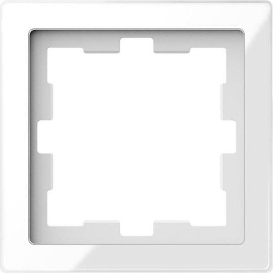 Schneider Electric MTN4010-6520 Yhdistelmäkehys 1 aukkoa, lasi Kristalli, valkoinen