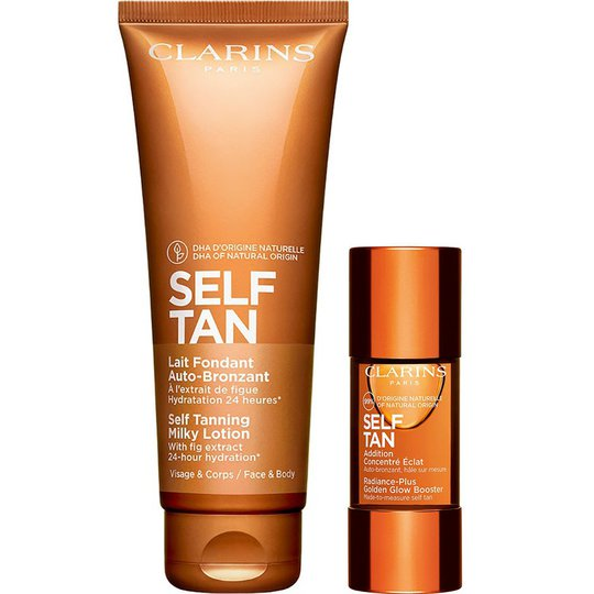 Self Tanning Lotion & Golden Glow Booster, Clarins Rusketus