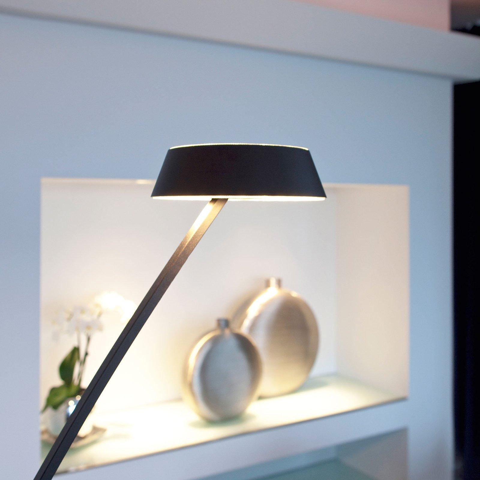 OLIGO Glance LED-gulvlampe bøyd, svart matt