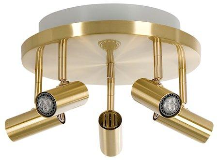 Cato LED 5-spot Messing m/Raking light