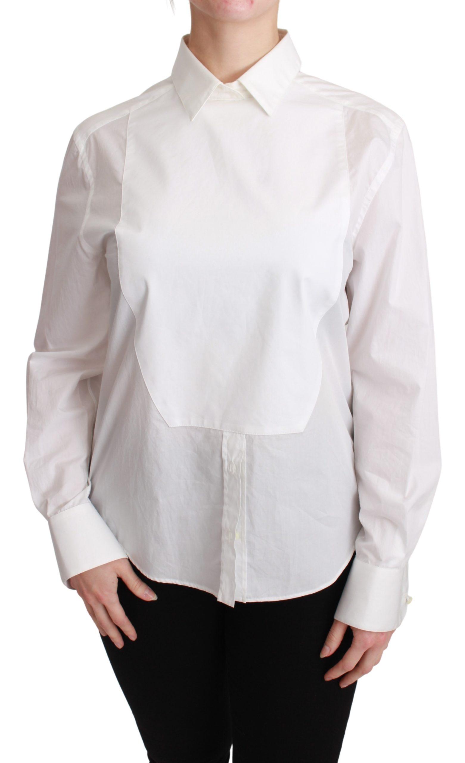 Dolce & Gabbana Women's Collared Cotton Shirt White TSH2685 - IT40|S