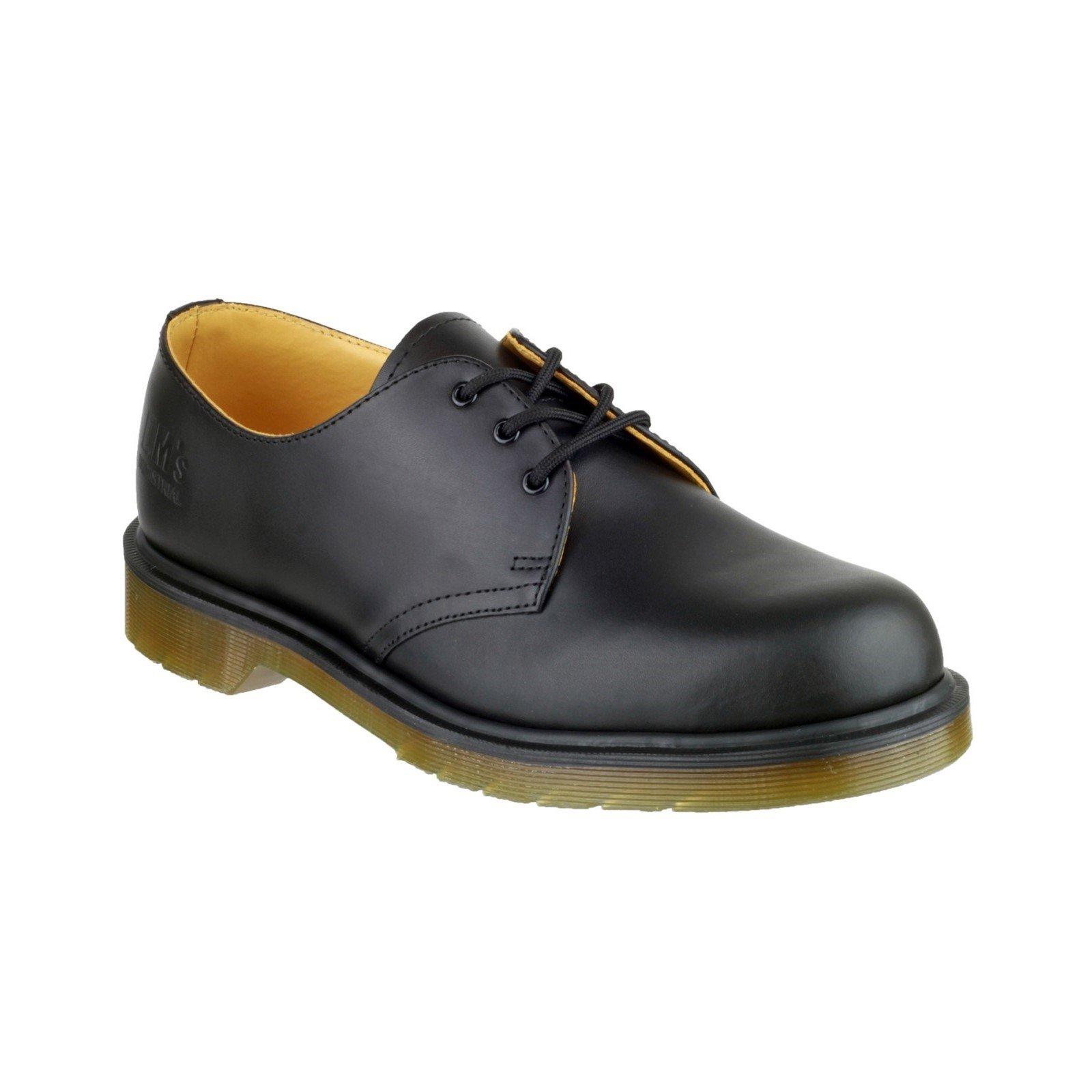 Dr Martens Men's Lace-Up Leather Derby Shoe Black 04915 - Black 4