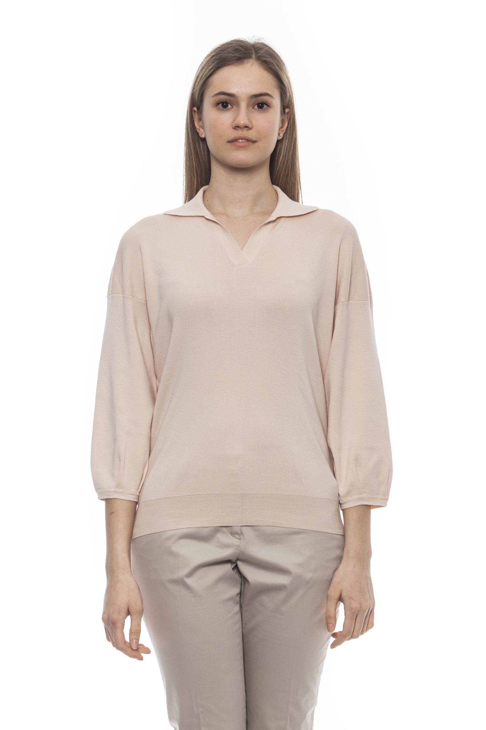 Peserico Women's Rosa Sweater Pink PE1383077 - IT42 | S
