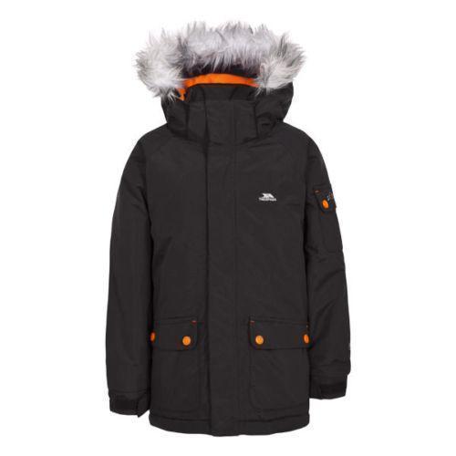 Trespass Men's Waterproof Parka Jacket Black Holsey - Black 2 to 3 Years
