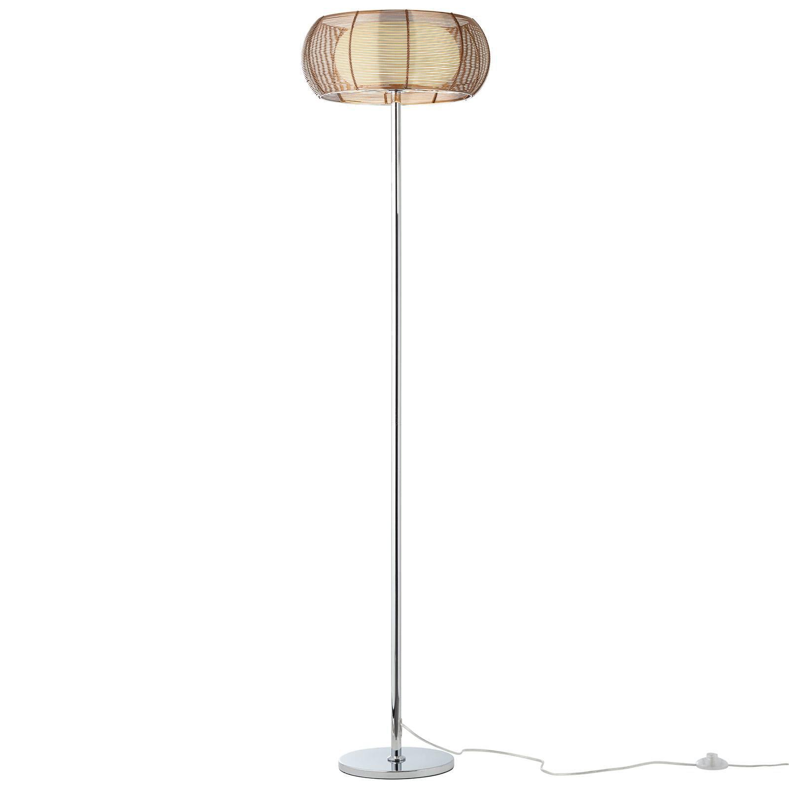 Gulvlampe Relax med edel metallskjerm