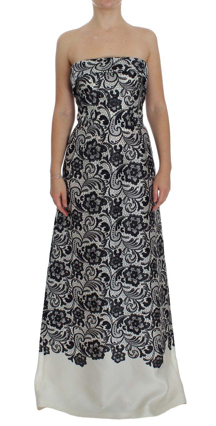 Dolce & Gabbana Women's Floral Lace Silk Corset Maxi Dress Multicolor NOC10083 - IT40|S
