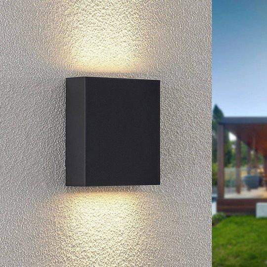 Lindby Ugar -LED-ulkoseinälamppu, 13 cm up/down