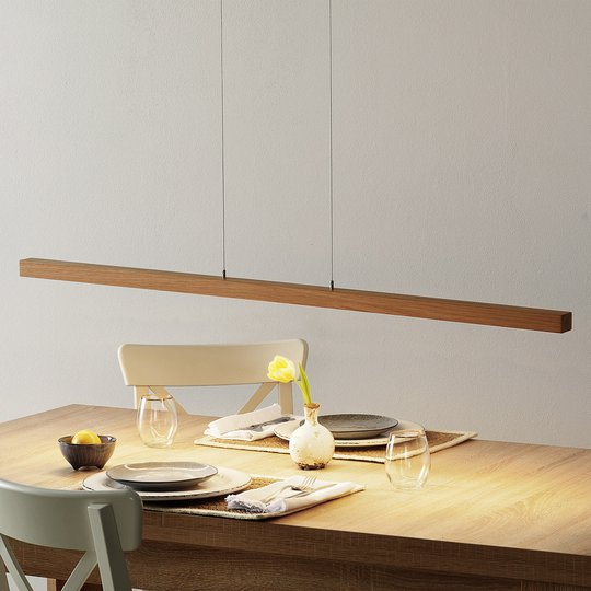 Lucande Lucyana -LED-riippuvalo, tanko, 120cm