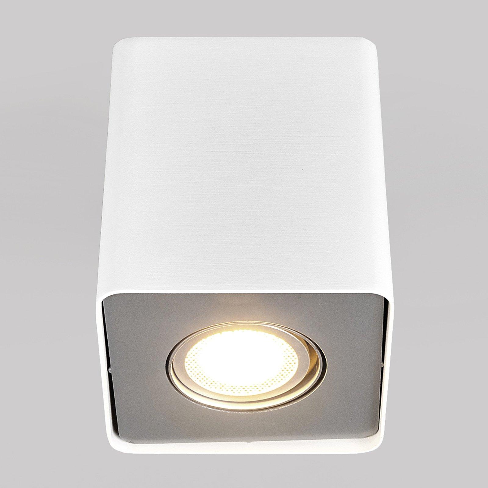 GU10 LED-downlight Giliano, 1lk., kantet, hvit