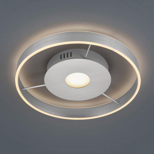 Logan LED-taklampe, 2 700-6 000 K, matt nikkel