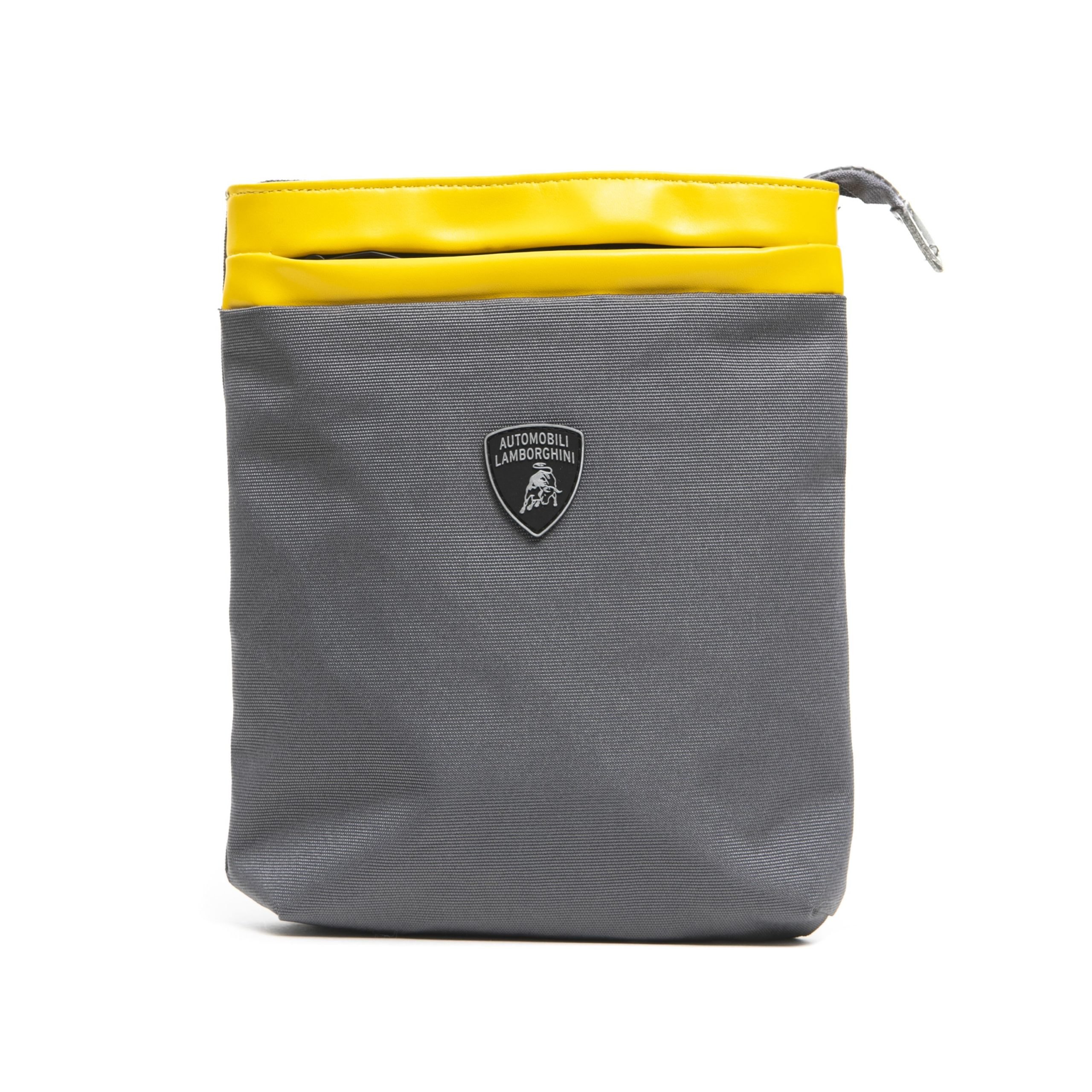 Lamborghini Men's Grigio Messenger Bag Yellow LA1265742