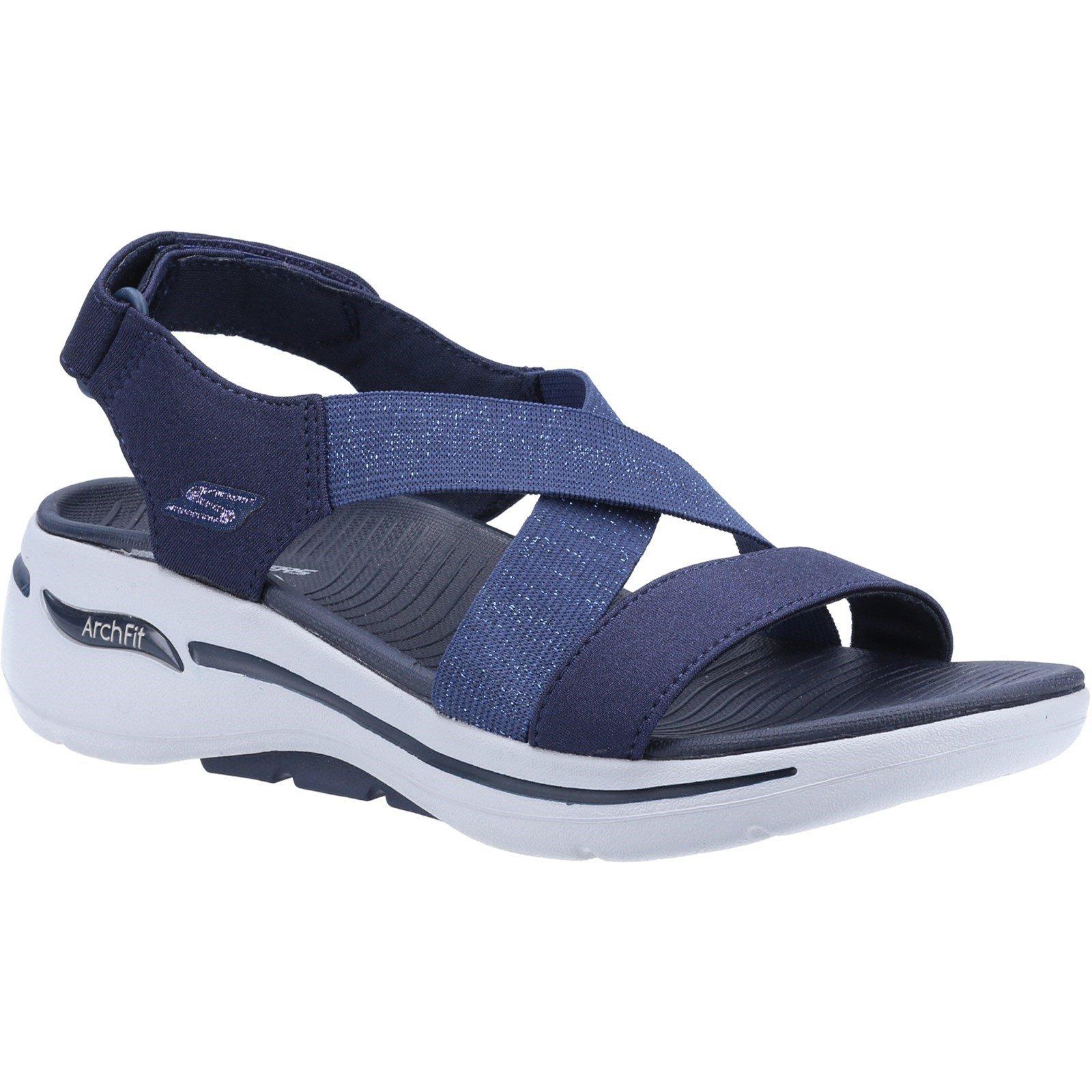 Skechers Women's Go Walk Arch Fit Astonish Summer Sandal Various Colours 32153 - Navy 4
