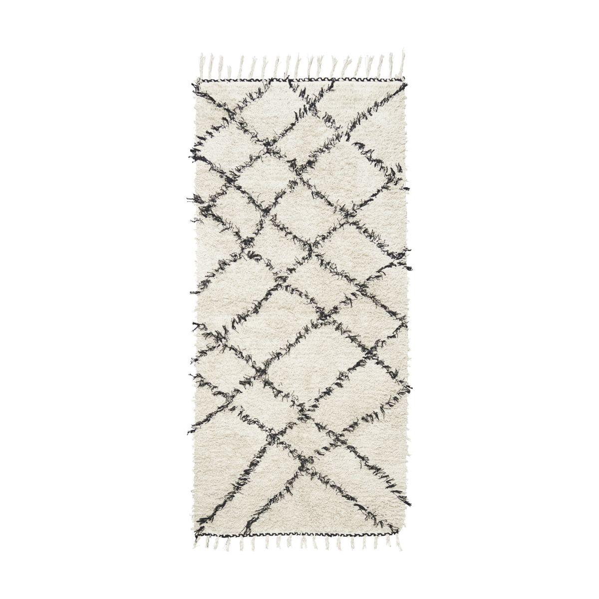 House Doctor - Riba Carpet 90 x 200 cm - Black/White (Rm0030-90X200)