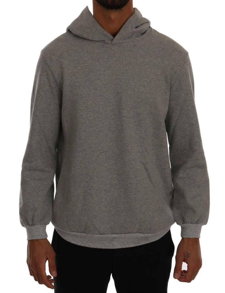 Daniele Alessandrini Men's Pullover Hodded Cotton Sweater Gray TSH1350 - L