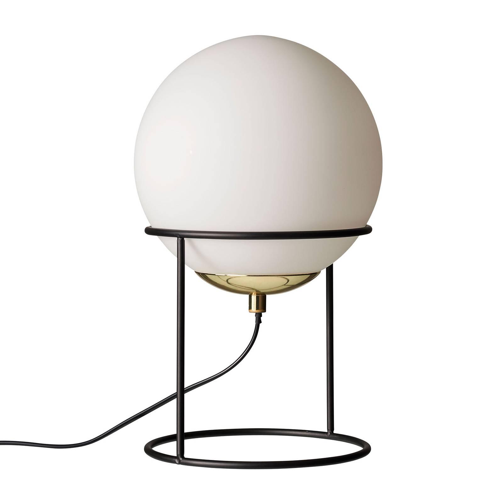 Dyberg Larsen Moon -pöytälamppu, lasivarjostin