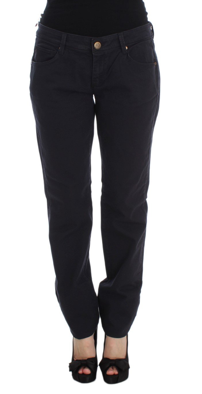 Ermanno Scervino Women's Casual Fit Trouser Blue SIG30330 - IT40|S