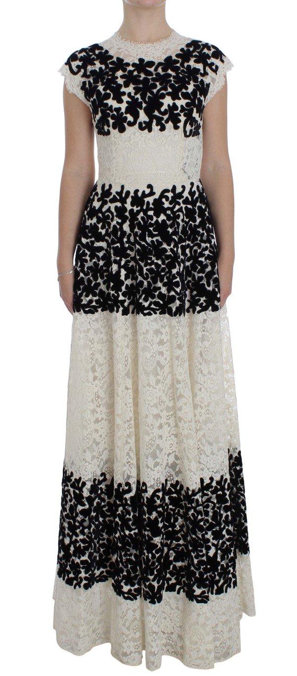 Dolce & Gabbana Women's Floral Lace Ricamo Dress Multicolor NOC10090 - IT38|XS