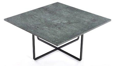 Ninety 80x80 sofabord - Grønn indio/svartlakkert metallstomme