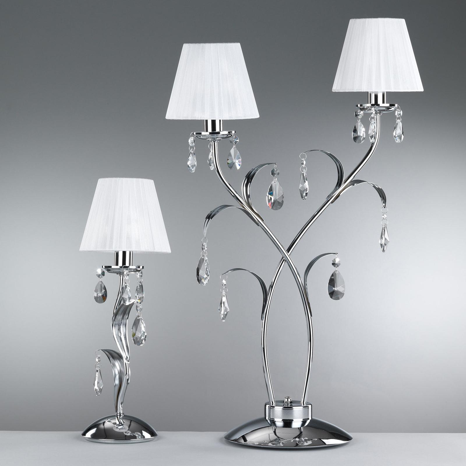 Pöytälamppu Jacqueline, 2-lamppuinen, valkoinen
