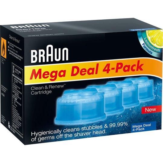 Clean & Renew Cartridge 4-Pack, Braun Koneet & trimmerit