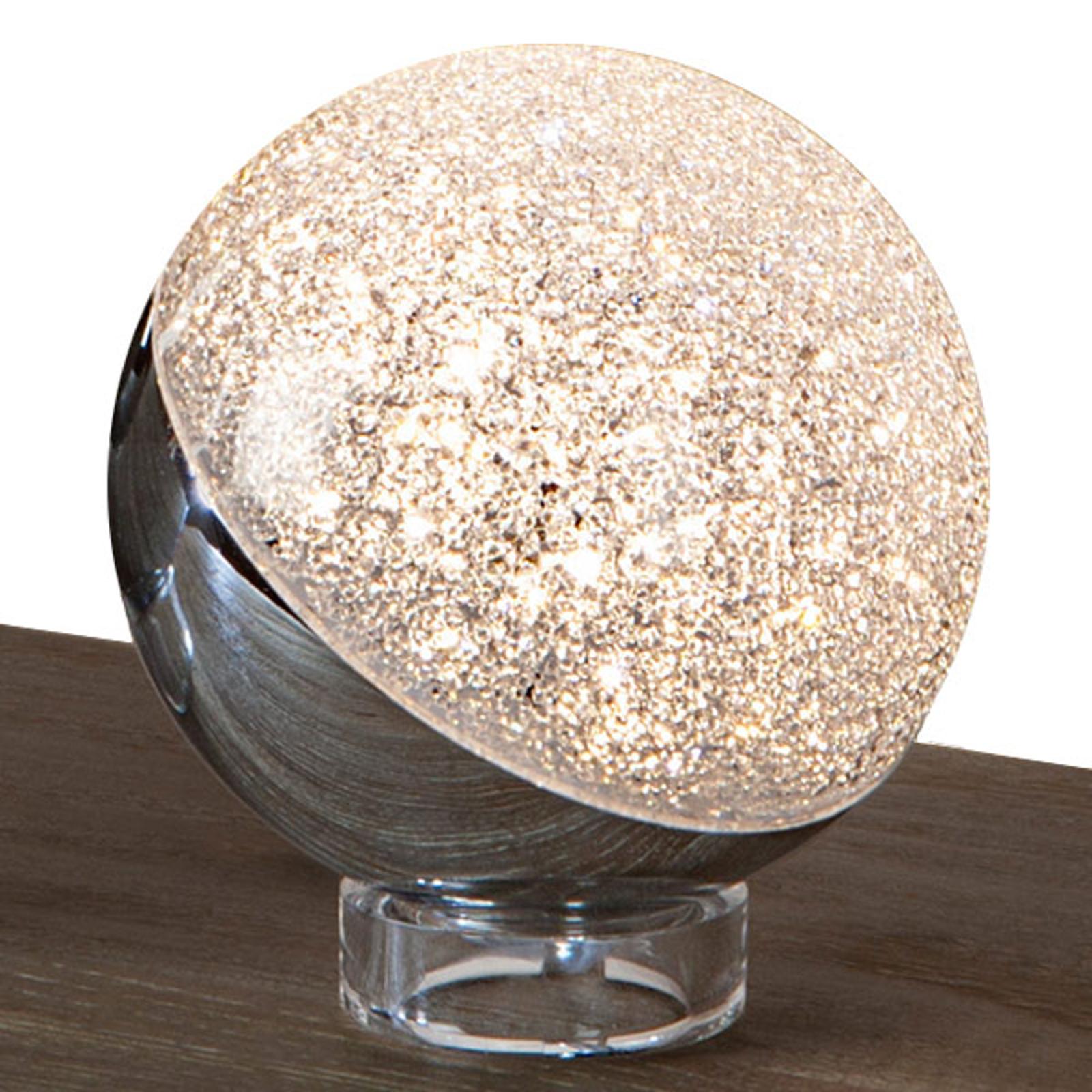Sphere-LED-pöytälamppu, kromia, Ø 12 cm