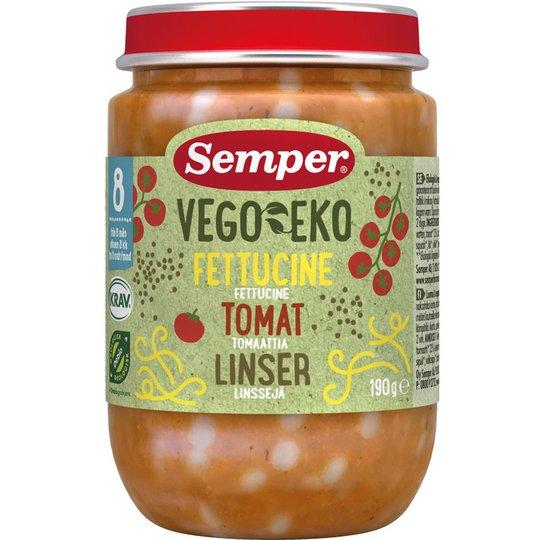 Barnmat Fettucine Tomat & Linser Eko - 26% rabatt