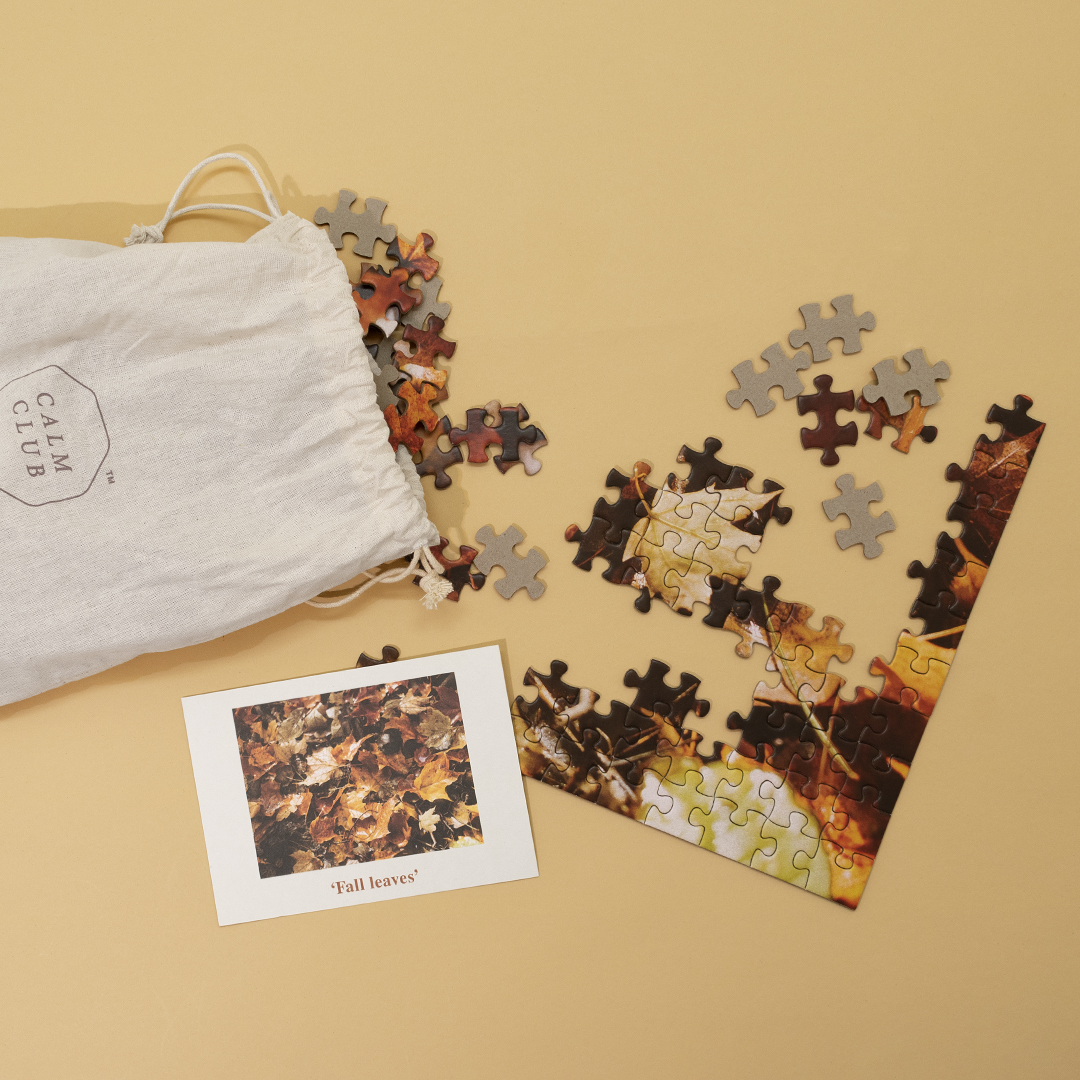 Calm Club - Peace by Piece - 500 Piece Autumn Leaf Puzzle