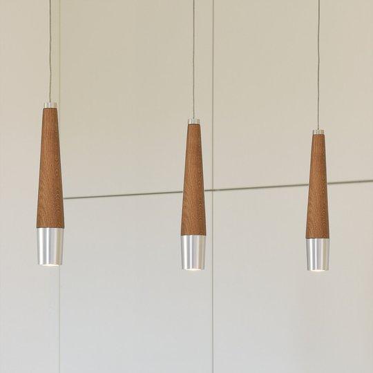 Himmennettävä LED-riippuvalaisin Conico 3 lamppua