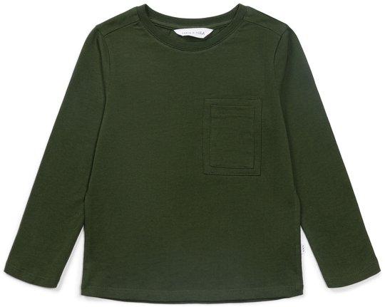 Luca & Lola Giovinazzo Langermet T-Skjorte, Army Green 110-116