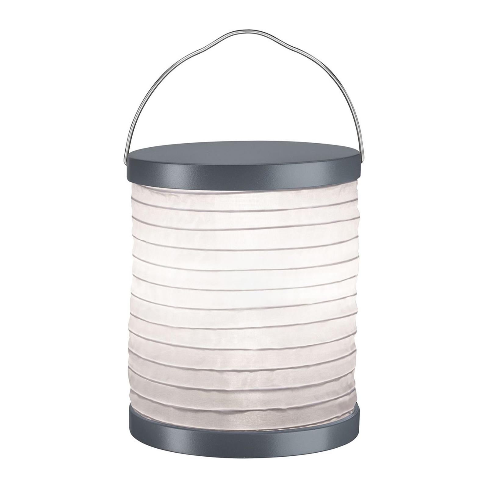 Paulmann Mobile Lampion -pöytälamppu, akku, harmaa