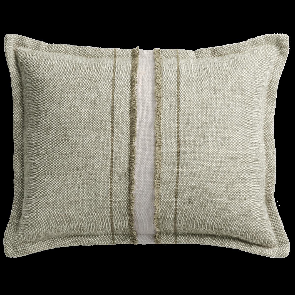de Le Cuona | Haiku Cushion With Fringe Detail Pond