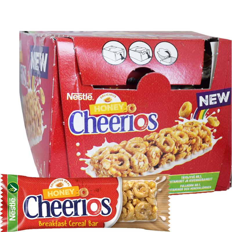 """Laatikollinen Patukoita """"Honey Cheerios"""" 16 x 22g - 40% alennus"""