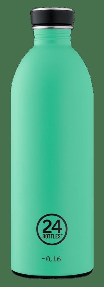 24 Bottles - Urban Bottle 1 L - Stone Finish - Mint (24B752)